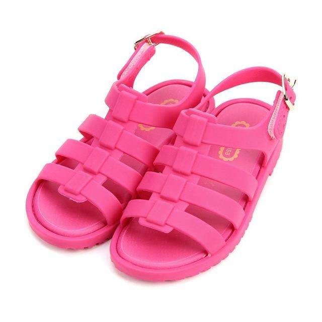 Mini Melissa 2017 Summer New Roman Shoes Girls Sandals Flox Kids Jelly Soft Insole PVC Shoe Flat-on Soft Bottom Non-Slip
