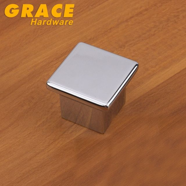 Hardware Chrome Wardrobe Furniture Handle Cabinet Drawer Door Handle Knobs Modern(L:35mm)