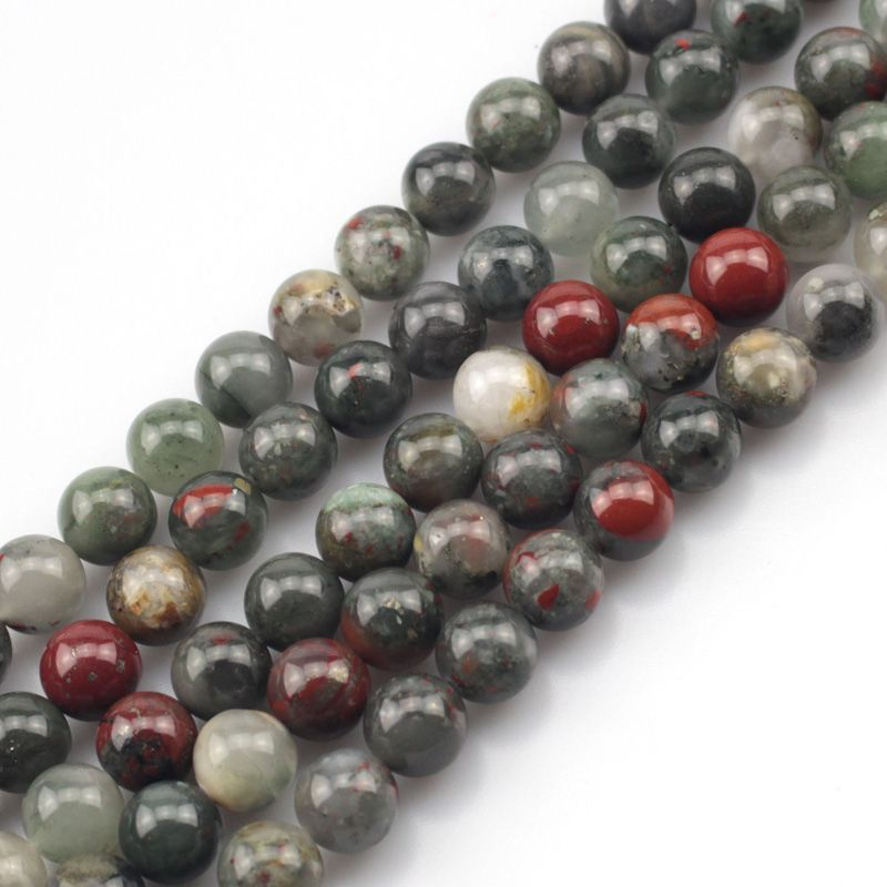round African heliotrope/ bloodstone beads natural stone beads DIY loose beads for jewelry making strand 15 inches wholesale !