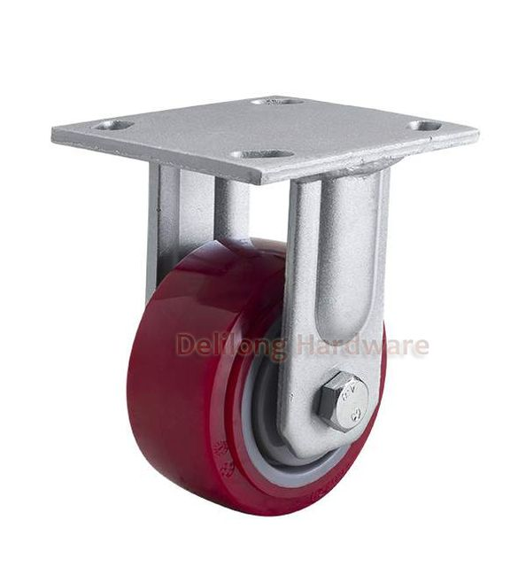 "4"" heavy duty high quality TPU dual brake Caster wheels 350kg duty, double ball bearing"