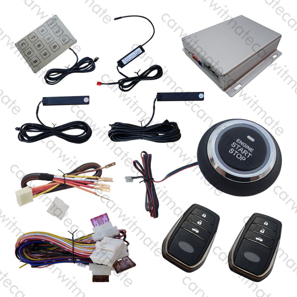 New RFID PKE Car Alarm System Push Start Stop Button Remote Start Passive Keyless Entry Smart Password Keypad Auto Central Door