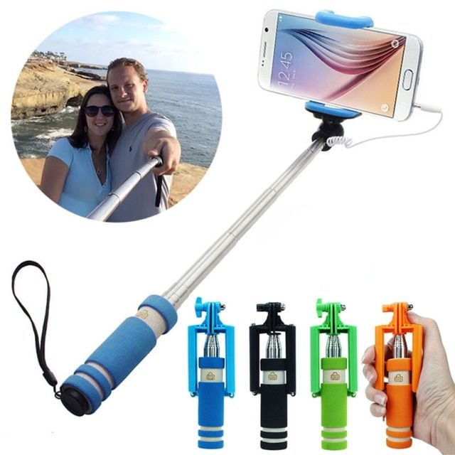 MALLOOM Extendable Black selfie stick For Monopad Mini Self-Pole Tripod Monopod Stick self selfie for Android  windows