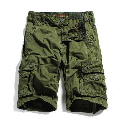 3XL Summer male casual shorts loose plus size tooling capris 5 knee-length men's clothing big size