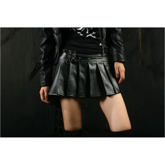 Summer Style Punk rave Womens Sexy  Skirt Novelty Gothic Lolita Fashion Sexy Leather Q166