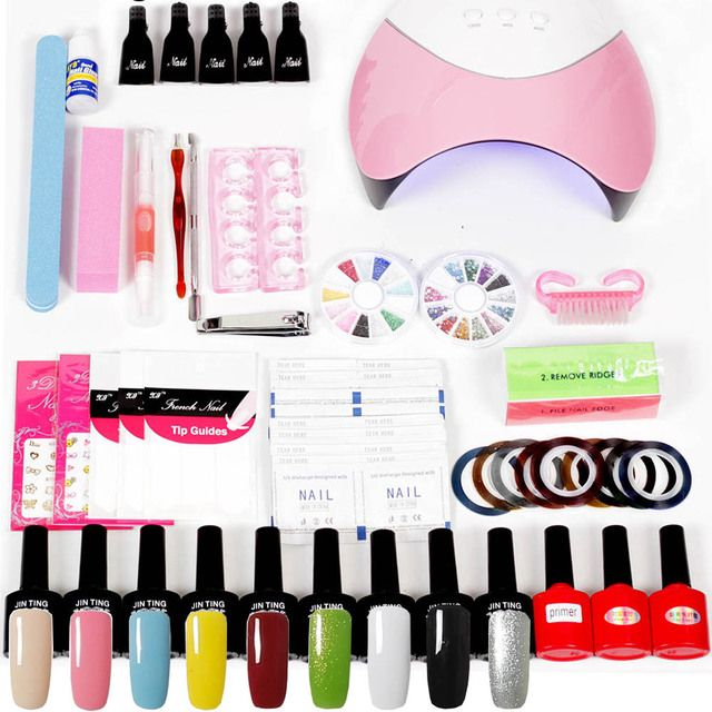Nail Polish Kit With UV Lamp 36W/48W/24W Nail Dryer Lamp UV Gel Nail Extension Kit False Tip  Decoration Manicure Pedicure Kit