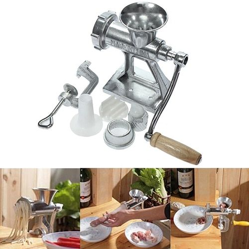 Multifunctional Hand Operating Crank Meat Grinder Heavy Duty Cast Manual Mincer