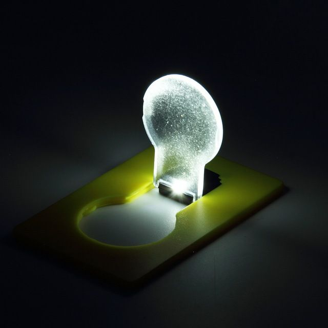 Hot Design Portable LED Card Pocket Light bulb Lamp Wallet Light Put In Purse Wallet Emergency Light Worldwide