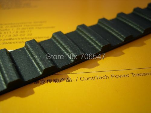 "Free Shipping 640H100  teeth 128 Width  25.4mmmm=1""  length  1625.60mm Pitch 12.7mm 640 H 100 T Industrial timing belt 2pcs/lot"