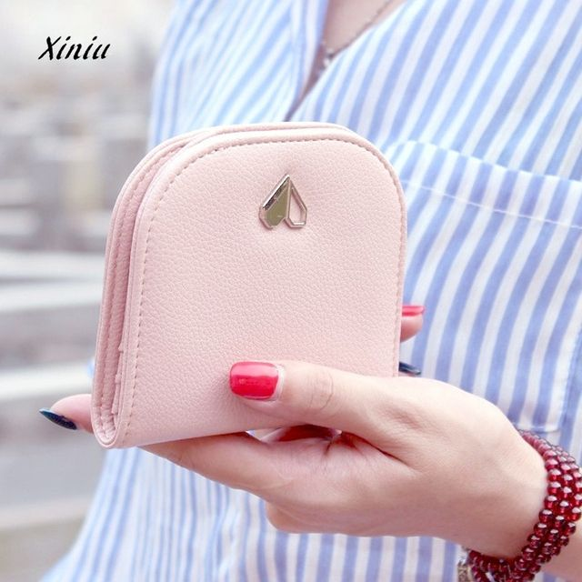 2018  New Fashion  Print Love Wallet Female Leather Small Change Clasp Purse Money Card Coin Holder Carteras Girls Women Purses
