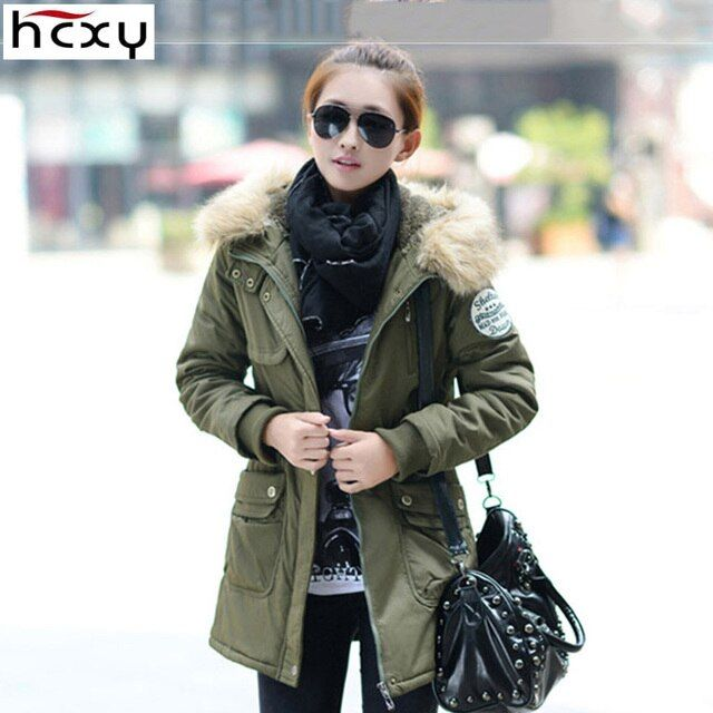 HCXY Brand Clothing 2016 Winter Women's Thick Cotton Long Coat Women Hooded Parka Female Down Jacket Drawstring Plus size M-4XL