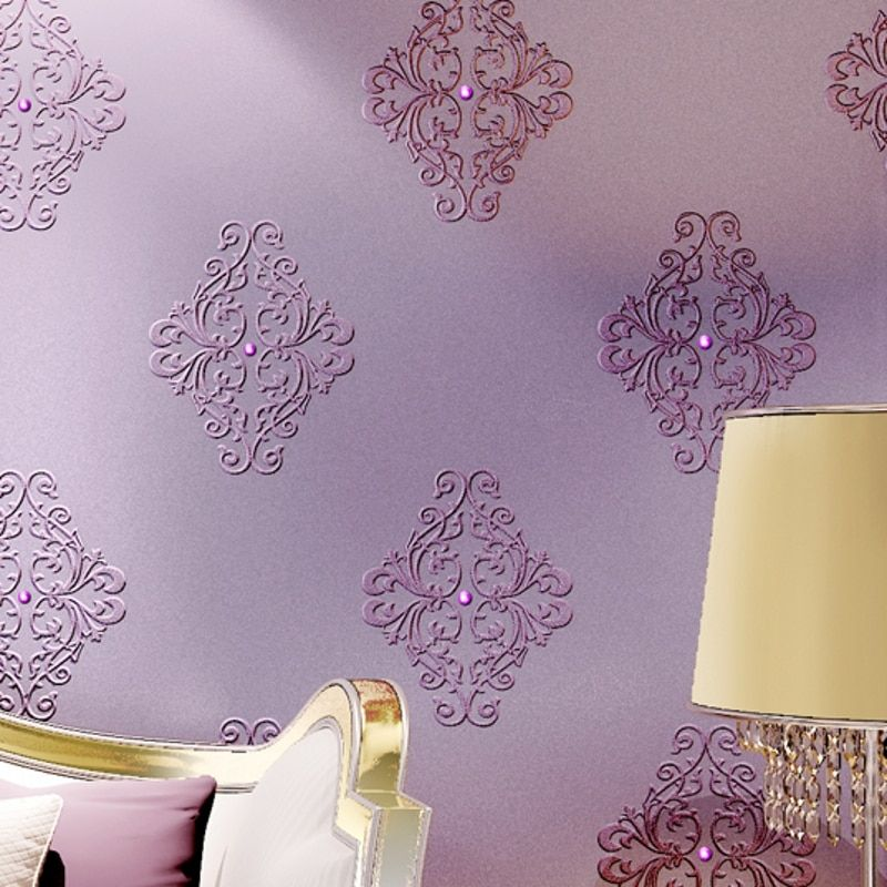 beibehang silk embroidery wallpaper 3D stereo diamonds European non - woven living room bedroom TV background wall paper