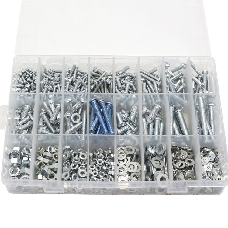 Home Screw Set Semi-round head tapping screw nut gasket M3 M4 M5 M6 Screw Mixed DIY