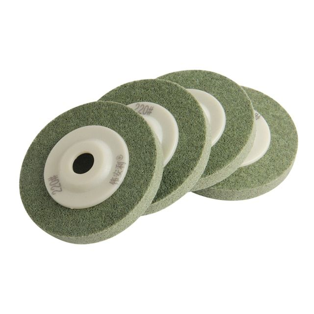 "4Pcs/Set Polished Polishing Wheel Nylon Yarn 220Mesh  4""/100mm For Marble Metal Glass Polishing Power Tools"