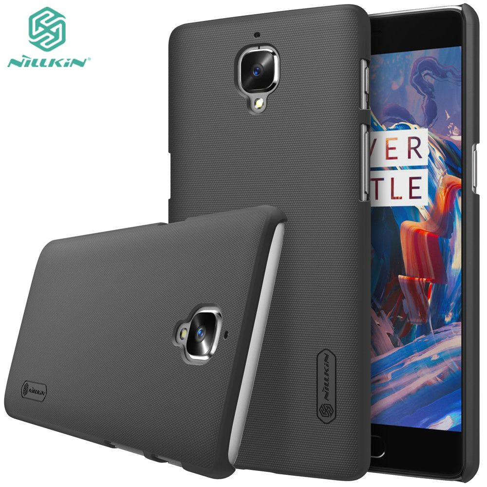 Black Color One plus 3 case Oneplus 3 case NILLKIN Super Frosted Shield hard back cover for Oneplus 3T