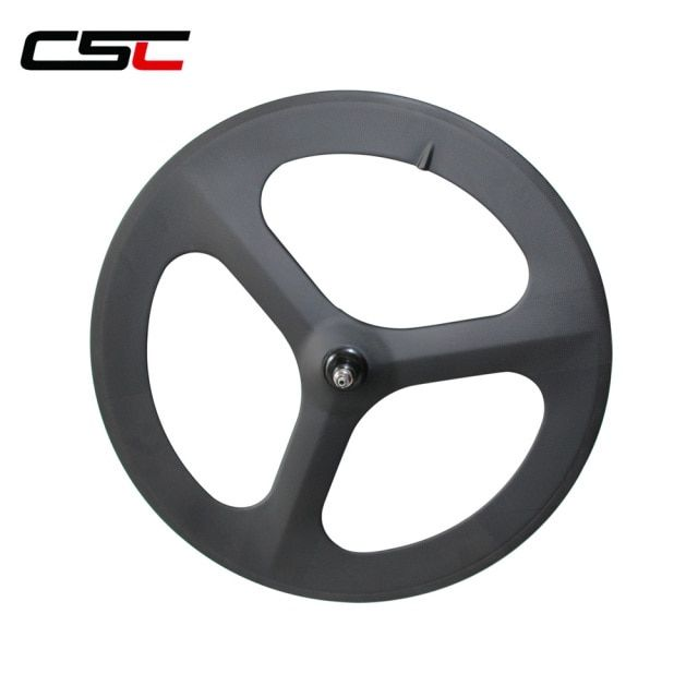Three spokes carbon wheels  Track Road Tri spokes wheels Clincher Tubular three spokes wheel