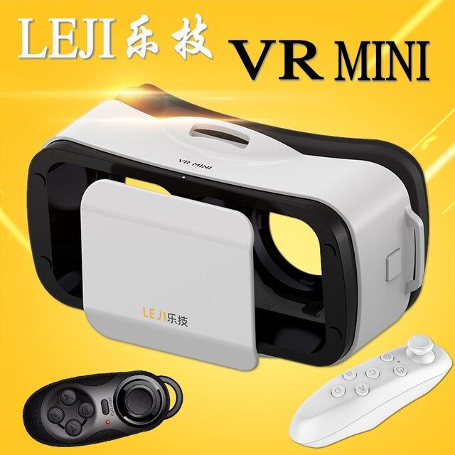 2016 VR BOX LEJI Mini 3.0 Google cardboard VR Virtual Reality 3D Glasses 5 colors For 4.5 - 5.5 inch Smartphone+ Remote Control