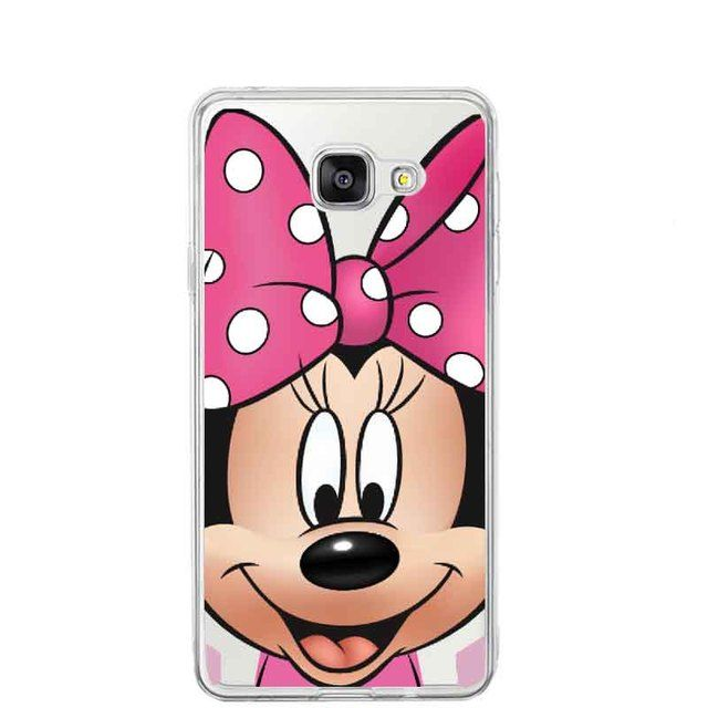 Funny Cartoon Minnie Mickey Mouse Stitch Daisy Duck Back Cover Coque Capa Cases Cover For Samsung A3 A5 A7 2016  J1 J5 J7 2016