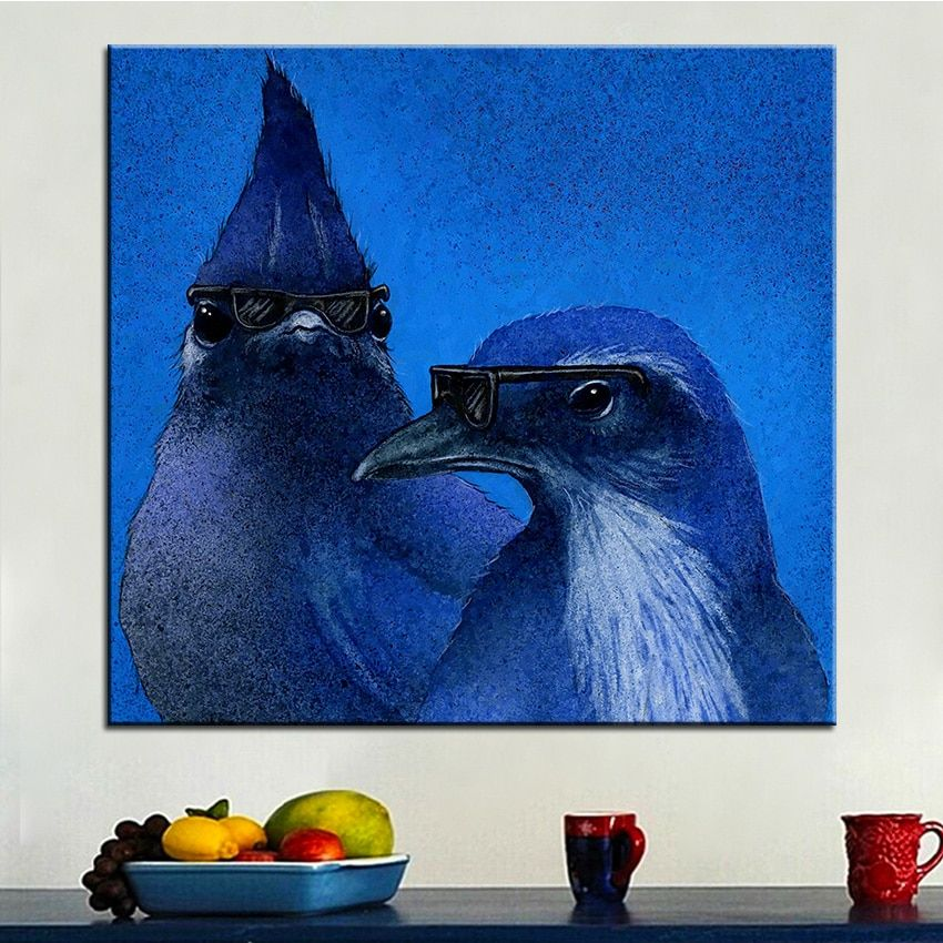 Large size Printing Oil Painting the blues brothers Wall painting Wall Art Decoration Picture For Living Room painting No Frame