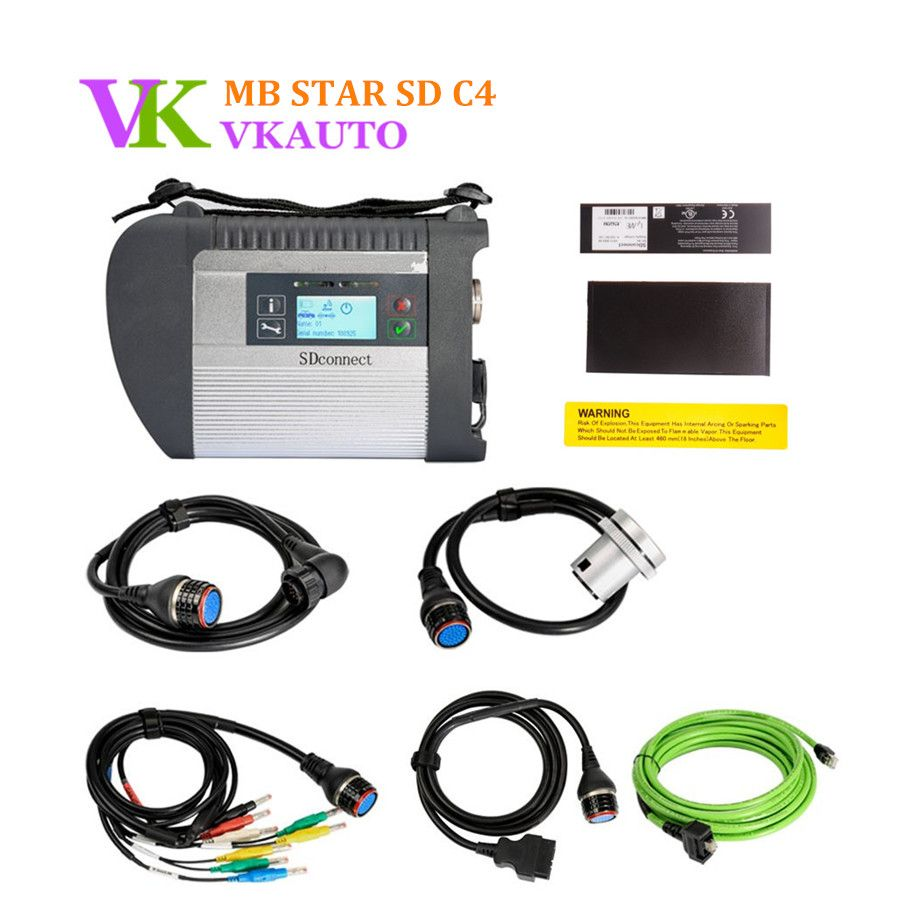 MB SDConnect 4 Wifi Version Star C4 Diagnosis Multiplexer For Cars and Trucks Full New Relay Chip Free Shipping