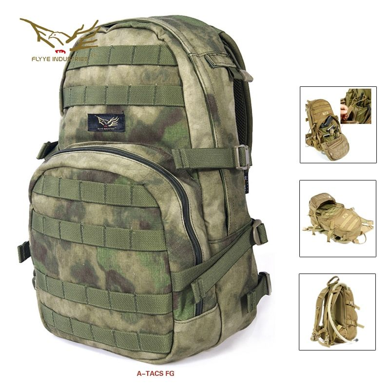 Flyye HAWG Hydration Backpack Water-resistant Hunting Backpack Tactical Backpack HN-H007 Black Khaki AOR Coyote Brown Multicam