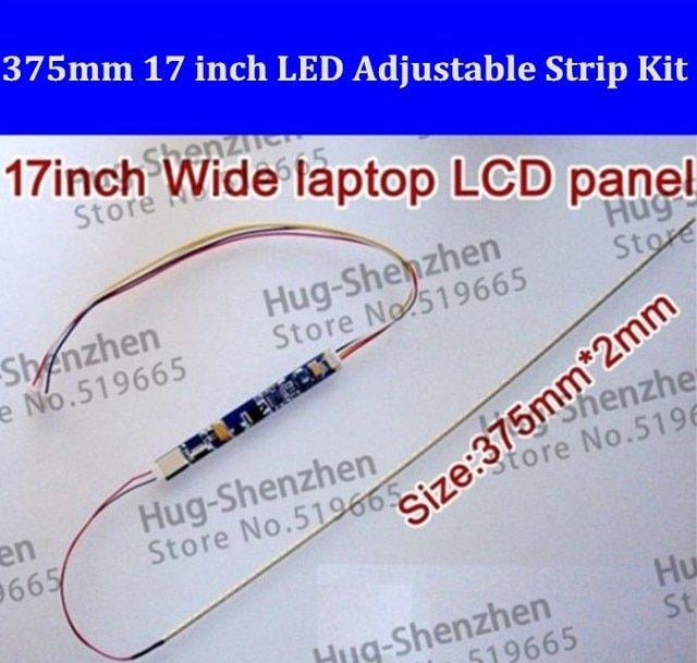 20PCS 375mm Adjustable brightness led backlight strip kit,Update 17inch laptop ccfl lcd to led panel screen