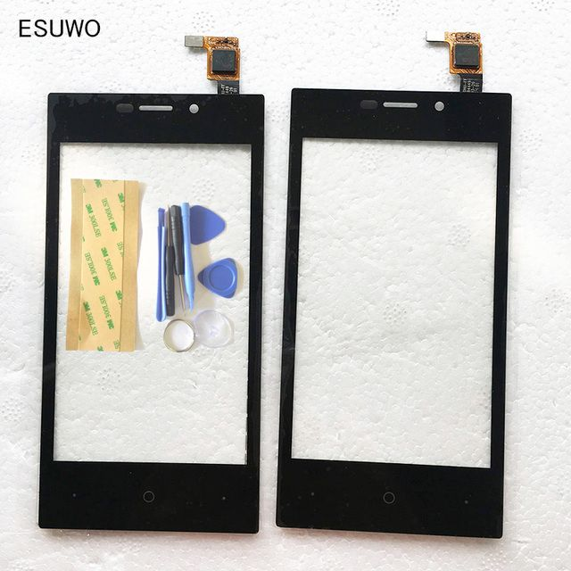 ESUWO Full Track Info. +  Tested Touchscreen For Highscreen Zera F rev.S Touch Screen Digitizer Front Outer Glass Sensor Panel
