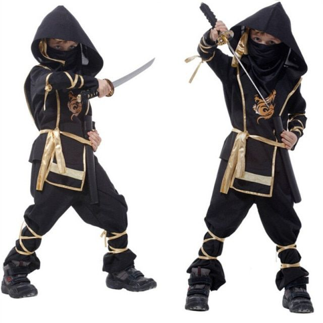 Kids Ninja Costumes Halloween Party Boys Girls Warrior Stealth Children Cosplay Assassin Costume Purim Day
