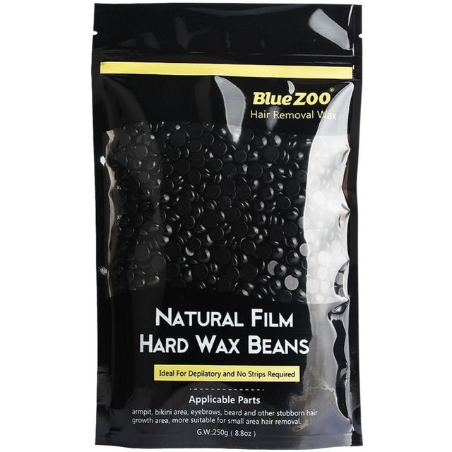 New Hair Depilator Pearl Hard Wax Brazilian Pellet Black Hot Film Wax Beans For Men Hair Removal No Waxing Paper Strips 250g