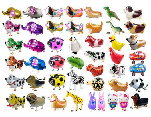 Hot Selling Foil Balloon Walking Animal Farm Pet Elephant Cat Frog Duck Dog Cow balon Christmas Gift Children Birthday Party