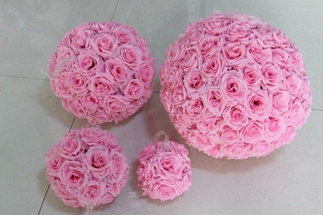 30CM flower ball Big rose flower heads table centerpiece wedding party/home decoration flowers Free shipping