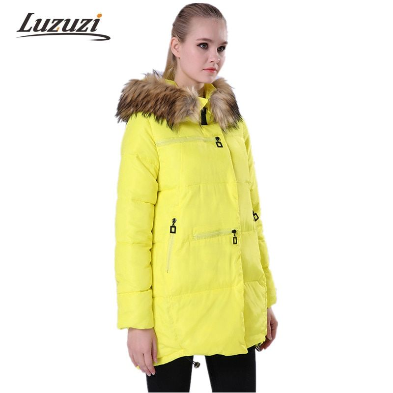 2017 Winter Jackets Women Winter Coats Fur Hooded Female Loose Oversized Long Cotton Padded Parkas abrigos mujer invierno WS006