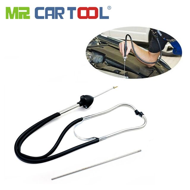 Mr Cartool Auto Stethoscope Cylinder Automotive Mechanics Diagnostic Tester Tool Car Engine Block Detector Engines Analyzer