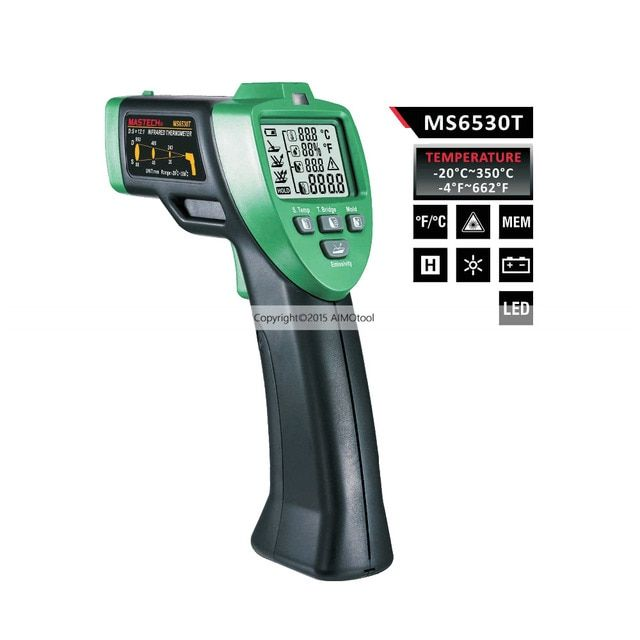 Mastech MS6530T Non-Contact Infrared Thermometer and Humidity Meter