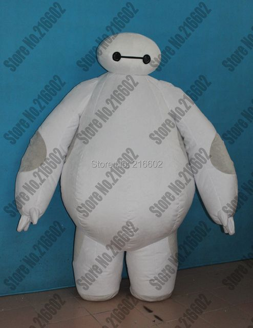 2015 New Top Fashion Halloween Costumes For Carnival Costume Big Hero 6 Mascot Costume Baymax Inflatable Cosplay Free Shipping