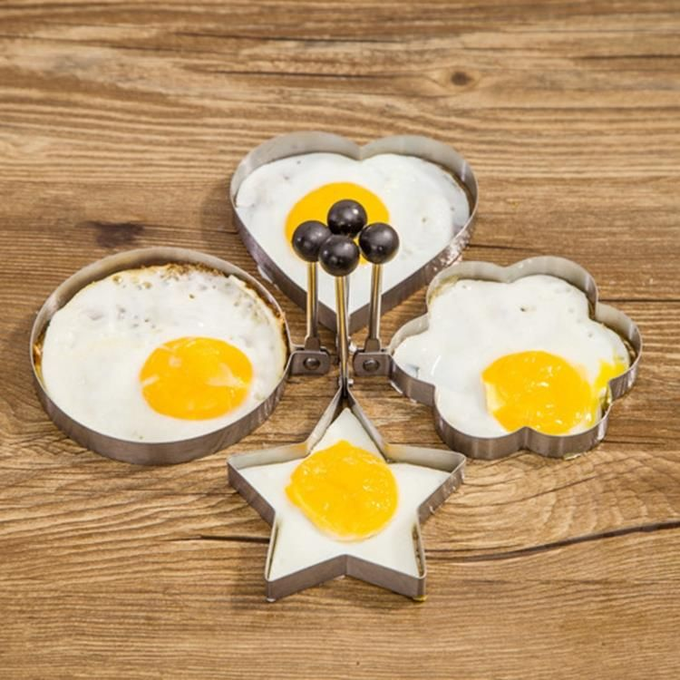 4pcs Form For Eggs,  Stainless Steel Fried Egg Mold Kitchen Tool Pancake Rings Cooking Egg Styling Tools Gadget Free Shipping