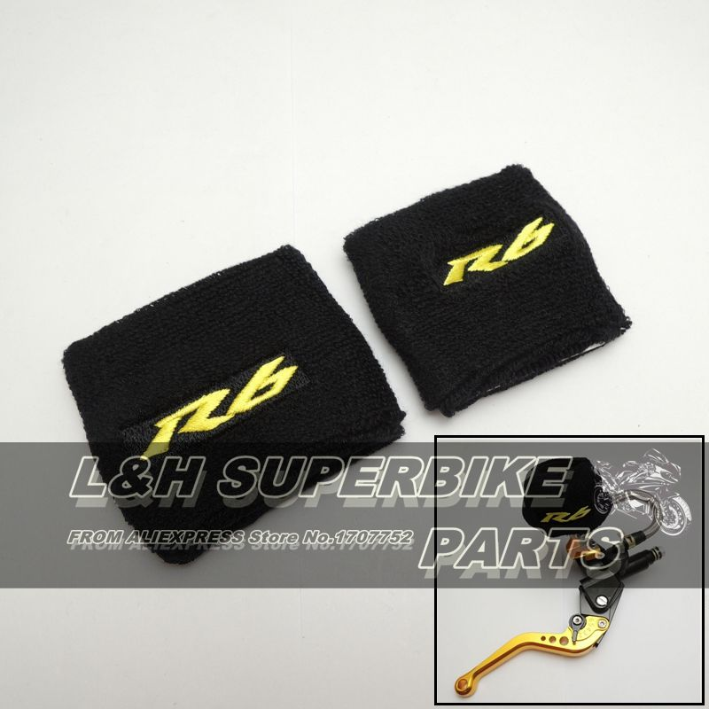 1 PAIR BIG & SMALL NEW Oil Reservoir Cover Sock Cuff Motorcycle Front Brake Fluid Tank Cover For Yamaha YZF R6