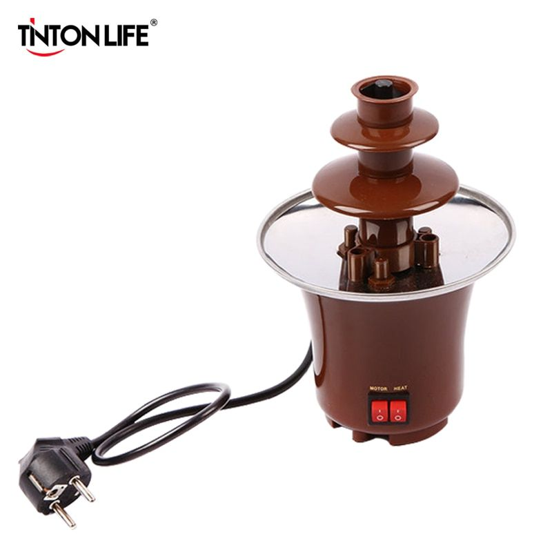 TINTON LIFE Creative Design Mini Chocolate Fountain For Sale Fondue Machine Chocolate Melts With Heating