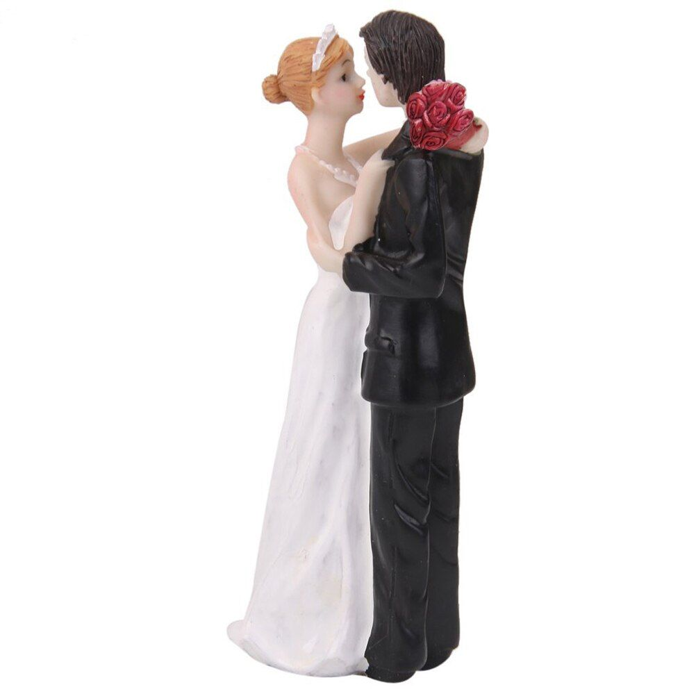 Romantic Wedding Cake Topper Decoration Resin Holding Bride Groom Figures