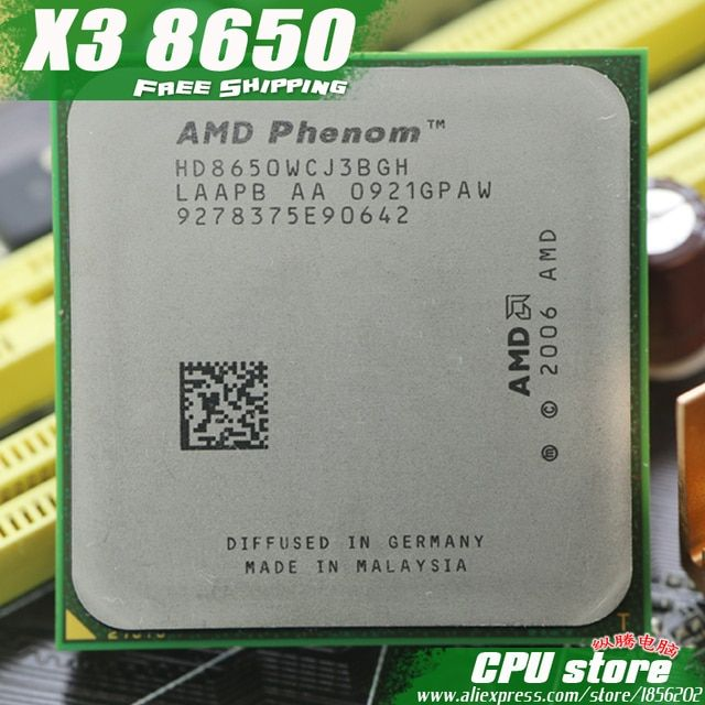 AMD Phenom X3 8650 2.3GHz Triple Core Processor Socket AM2/AM2+ 940-pin cpu, 95W L3=2M, free shipping, there are, sell X3 8450