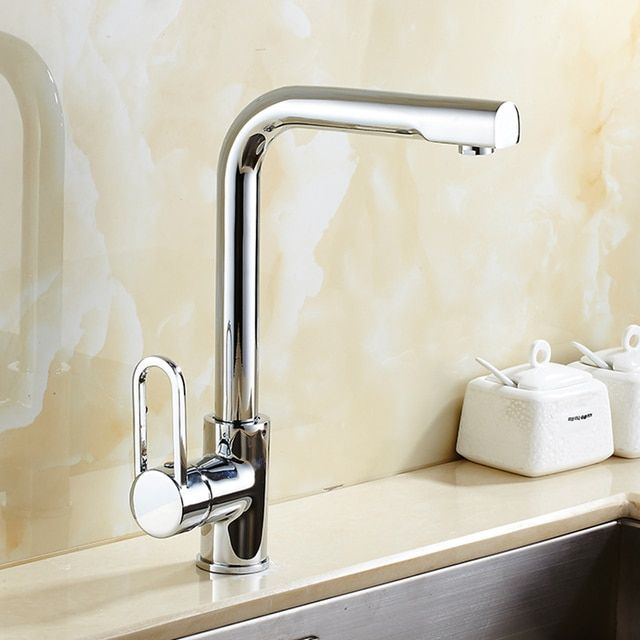 Free Shipping Kitchen Faucet Single Handle Kitchen Sink Faucet chrome Swivel Sink faucet Deck Mounted water Faucet,Mixer & Tap