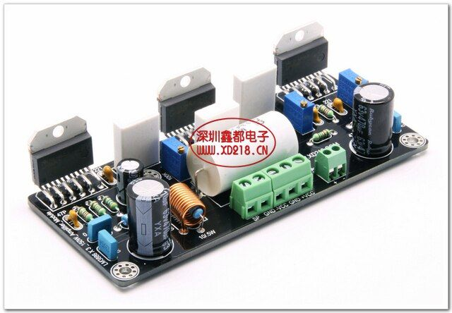 XIN DU LM3886 Parallel 150W pure DC mono channel power amplifier board 1.0 channel amplifiers audio hifi amplifier board