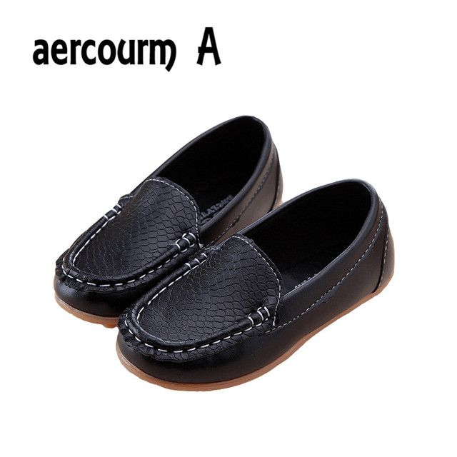 Aercourm A Girls Shoes 2017 Brand Spring Autumn Loafers Shoes Girls Non-Slip Boys Sneakers Kids PU Leather Baby Casual Kids Shoe