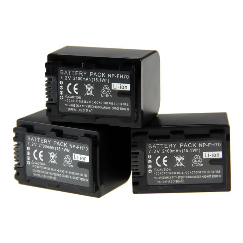 3PCS NP-FH70 NP FH70 NP FH60 Camera Battery For Sony DVD505 HC96 NP-FH30 NP-FH40