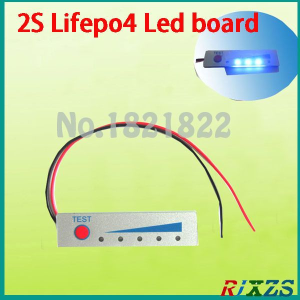 2S Lifepo4 LED battery Electricity display board electronic display board battery  showed display board