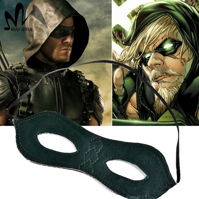 2017 New Green Arrow Season Oliver Queen Eyes Mask Cosplay Accessories superhero party cosplay MEN eye mask
