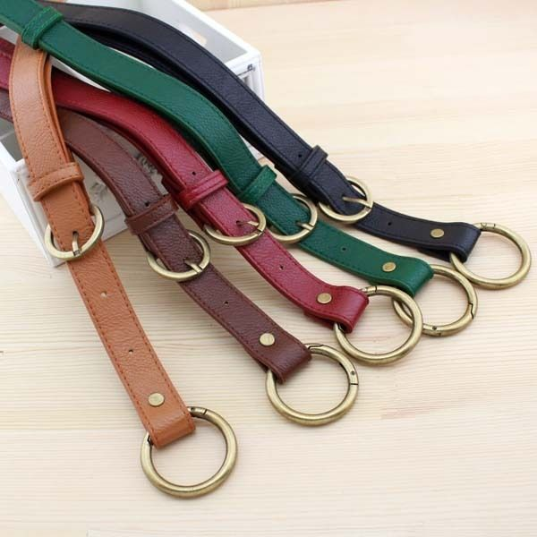 D009 2.5CM wide adjustable 66~116CM Single /Inclined  shoulder Dual use handle belt o ring clasp DIY handbag accessories 2pcs