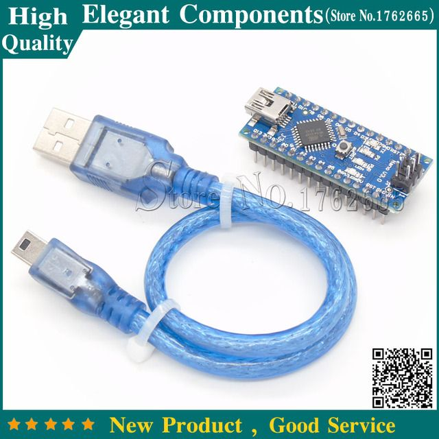 For Arduino Nano V3.0 with ATMEGA328P Module With Data lines 6 PWM ports FTDI Chip (FT232RL) Support Win7 Win8 Controller Board