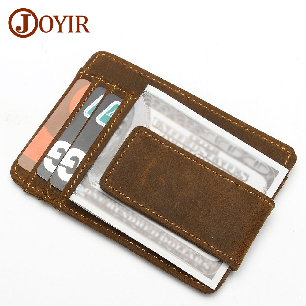 JOYIR Genuine Leather Credit Card Holder Card Wallet Purse Id cardholder Wallet Women Men Business Card Pouch Cover K023 New