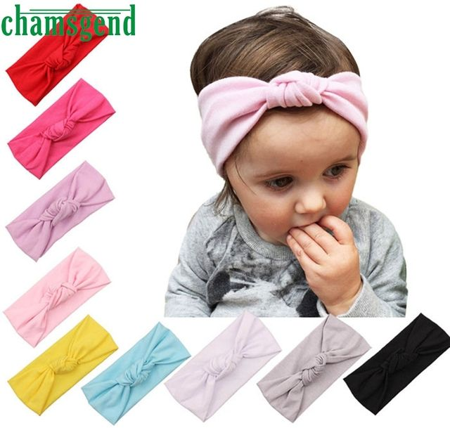 Hot Headbands For Baby Winter Sports Headband Head Wrap Wide Yoga Hairband Kids Girls Turban Elastic Hair Accessories JAN13GP