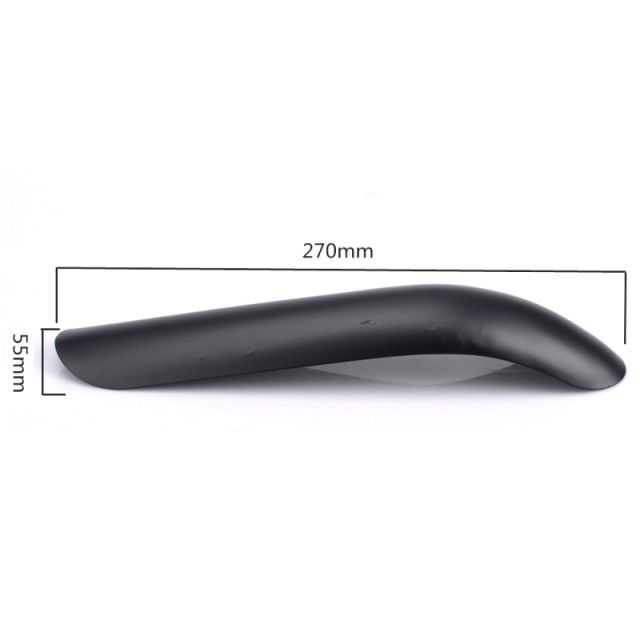 "Motorcycle Exhaust Pipe Cover Curved Guard Muffler Heat Shield Protect Black 9"" for Harley Kawasaki Honda KTM BMW"